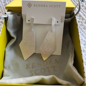 NEW Kendra Scott Bright Silver Gia Earrings